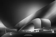 CENTRO NIEMEYER (Javier Girbés) Tags: bn bw fineart painting blackandwhite architecture arquitectura longexposure largaexposición trazasnubes javiergirbes canon6d cultura niemeyer aviles