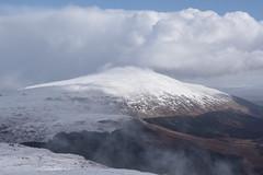 Glen Loys Mount Fuji. (Davie Main) Tags: beinnbhann druimgleannlaoigh meallaphubuill glenloy snow corbetts scottishhighlands whiteclouds clouds pentaxk70