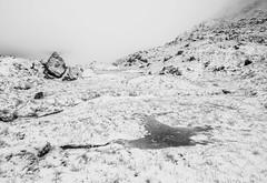 Beautiful Frozen Snow (Mono) (GOR44Photographic@Gmail.com) Tags: argyll scotland mono bw monoscotland thecobbler beinnnarnain munro arrocharalps snow white winter frozen rocks mist gor44 panasonic g9 olympus 1240mmf28 arrochar