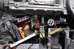 3- Overview (KirtonBricks) Tags: millennium falcon lego mod moc 75192 custom star wars build building bricks gun technic gear