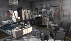 Feels like home (Trixie Lanley) Tags: fameshed ariskea consignment bedroom secondlife dustbunny homedecor floorplan brocante haikei