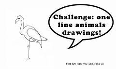 Challenge: One-Line Animal Drawings! (fineart-tips) Tags: art drawing finearttips animals sketch oneline challenge logo tutorial artistleonardo leonardopereznieto patreon tutto3