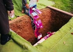 (Levi Mandel (@levimandel)) Tags: 35mm film scan grave books pour weird magic death graveyard charles strange color surreal