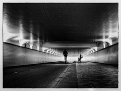 Centraal station ( Rotterdam ) (vanregemoorter) Tags: station gare street monochrome blackandwhite people route personnes