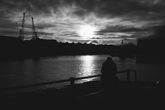 Solitary (gothick_matt) Tags: bristol silhouette water harbour harbourside floatingharbour places uk unitedkingdom