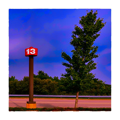 13 (Timothy Valentine) Tags: 2018 surreal 0818 tree large sliderssunday sky 13 sign ontheroad taunton massachusetts unitedstates us