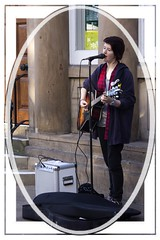 Busking in Chester City (Audrey A Jackson) Tags: canon60d chester woman singing guitar music busking