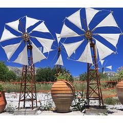 Windmills (Robyn Hooz) Tags: windmills creta creete grecia greece vaso blu sky myth cielo land piana vento