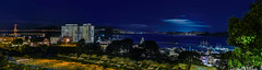 francisco overlook panorama (pbo31) Tags: sanfrancisco california nikon d810 color night dark black january 2019 boury pbo31 city over russianhill goldengatebridge 101 aquaticpark hydestreet panoramic large stitched panorama blue bay sail ship ghirardellisquare tall pier reflection