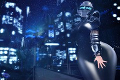 GAME OVER (Rachel Swallows) Tags: xxxevent scifi insilico alien cyborg latex leather space bladerunner movie cosplay