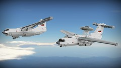 TF-78 and FWF-76 (Lego Pilot) Tags: lego ldd aircraft plane ilyushin il76 candid il78 midas beriev a50 mainstay blender freighter transportaircraft