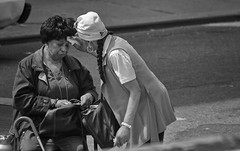 The Good Samaratan (Frank Fullard) Tags: frankfullard fullard goodsamaratan candid street portrait kindness caring newyork manhattan sick tending goodness christian bible biblical us usa america monochrome black white blanc noir