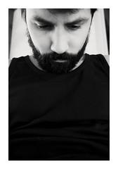 R0000189 (Jordane Prestrot) Tags: ♋ jordaneprestrot noiretblanc blackandwhite blancoynegro barbe beard barba autoportrait selfportrait autoretrato