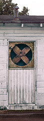 Rusted building fan (cizauskas) Tags: fan rust old abandoned dilapidated building decatur georgia legacylens window