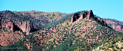 Pointed Rock Formations, Between Aspen & Snowmass on Hwy 100, Colorado, USA (Black Diamond Images) Tags: pointedrocks rockformations aspen snowmass basalt colorado usa westernusatrip2018 2018 canond60 sigma1770 1770 panorama msice msicepanorama microsofticepanorama sky mountain landscape hwy100 highway100 arbenaygulch dobsongulch