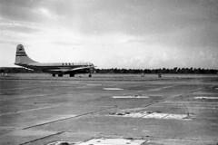 B.O.A.C (vintage ladies) Tags: vintage blackandwhite photograph photo plane aircraft boac