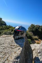 Cassis, route des cretes, casque hjc (Cars & Bikes) Tags: moto amazing sea sun view tokina d7500 nikon hjc