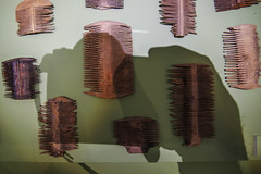 combs of rome (lowooley.) Tags: northernengland vindolanda roman museum excavated combs shadow
