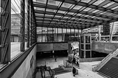 Bahnhof Potsdamer Platz (Berlin-Knipser) Tags: berlin berlinmitte deutschland germany potsdamerplatz artinbw blackandwhite bw blackwhite schwarzweis schwarzweiss sw sonya6300 sel1018 architektur