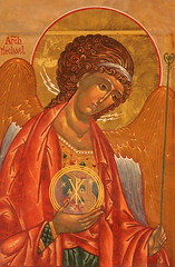 Sts. Theodore Orthodox Church Michael the ArchAngel Icon (Jay Costello) Tags: ststheordoreorthodoxchurch ststheodore sttheodore orthodox church god worship religion icon gold newyork ny williamsvilleny williamsville russian russianorthodox stmichael st michael archamgel archangel angel winged