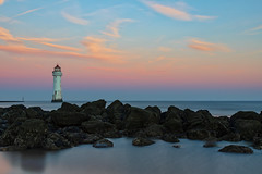 It's Friday. It's Lighthouse time! (gmorriswk) Tags: merseyside england unitedkingdom gb lighthouse forth perch rock new brighton river mersey landscape seascape formatt hitech firecrest long exposure sunrise