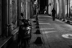 """Go your own way""  / there goes the night (Özgür Gürgey) Tags: 2016 50mm bw beyoğlu d750 darkcity nikon alley evening lines lowlight people street istanbul"