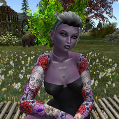 2_21 Sugar Rose - purple skin (Justine Flirty) Tags: artisanna fantasy tattoo