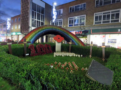 Garden of Remembrance, Hemel Hempstead 2018 (Dave_Johnson) Tags: dark night nightphotography rainbow marlowes remembered therebutnotthere tommy remembrance garden britishlegion war memorial warmemorial tribute firstworldwar ww1 wwi