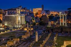 La Città Eterna (aurlien.leroch) Tags: forumromanum italy italia italie roma rome lazio history cityscape night bluehour fororomano colisée colosseo