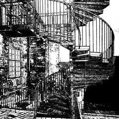 staircase (j.p.yef) Tags: peterfey jpyef yef house staircase bw sw monochrome iphone photomanipulation digitalart germany lübeck
