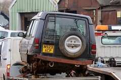 N923 ACP (Nivek.Old.Gold) Tags: 1995 land rover discovery tdi 5door 2495cc scrap