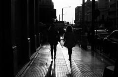 Of walking shadows... (Nikos.K.) Tags: 2019 piraeus greece people shadows light reflections blackandwhite film bw ilfordfp4125 expiredfilm homebrewdeveloper d76 leicam4p elmar5cm28