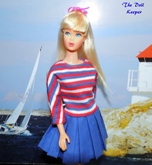 Thank you Elaine! (The doll keeper) Tags: 1967 vintage mod standard white platinum barbie doll japanese exclusive day dress