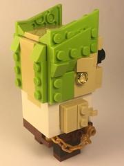 "Keith Flint Brickheadz from ""The Prodigy"" (Spawnwrithe) Tags: lego brickheadz afol moc creation figure prodigy keith flint haircut green electronic breakbeat tongue singer"