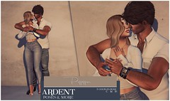 Ardent Poses - Possession Ad (Ardent Poses) Tags: secondlife second life sl avatar 2nd 2ndlife avi virtual vr 3d inworld poses pose ardent photography people exclusive avatars event love couple couples release new hold broderick logan ena roane enaroane bento advertisement sidewalk sale ardentposes