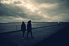 A Walk by the Mersey (ronramstew) Tags: walk promenade river mersey liverpool merseyside couple