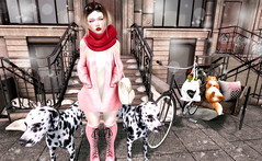 ♥♥♥ (♡♡ [[J E SSIE ]]♡♡) Tags: belleepoque fameshed secondlife cute fashiowlposes posebento bento posedog dalmatians posefair posepet sl doux maitreya catwa girl pose post second life minimal soho build scene