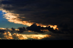 Clouds at sunset. (ALEKSANDR RYBAK) Tags: изображения закат облака небо вечер драматизм атмосфера погода images sunset clouds sky evening drama atmosphere weather