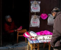 A Customer (Wolfgang Bazer) Tags: sanhe 三河 三河鎮 肥西县 安徽 anhui ancient town altstadt china fächer hand fans shop laden geschäft