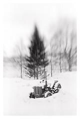 Stenneset (2019) (phamnes) Tags: lensbaby2 lensbaby xtol grain blackandwhite monochrome snow tractor stenneset winter norway blackandwhitefilm filmphotography slr 35mm 135film ultrafinextreme400 ultrafinextreme ultrafine ultrafinefilm f5 nikonf5 nikon