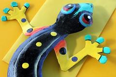 Gecko (Gillian Everett) Tags: gecko metal haiti collectable 365 2019