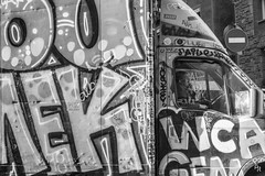 BoBBy (Andrea Rizzi Esk) Tags: barcelona street calle person worker truck collorful graffiti nek red yellow blue signal urban city