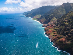 (quasitomo) Tags: ocean mountain cloud sky coast napali helicopter blue landscape oceanscape