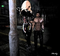 Next Bitch (harleyjane44er) Tags: secondlife sl busty blonde boobs boots latex pornstar strapon harley