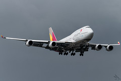Asiana Airlines - Boeing 747-48E / HL7418 @ Manila (Miguel Cenon) Tags: oz oz747 oz744 asiana asianaairlines asiana747 hl7418 rpll airplane airplanespotting apegroup appgroup airport planespotting ppsg philippines plane manila nikon naia d3300 queenoftheskies quadengine wings widebody widebodyjet wing fly flying boeing boeing747 boeing744 b747 b744 jumbojet wide