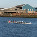 ROWING IN BELFAST [THE RIVER LAGAN NEAR THE GASWORKS]-151083