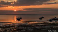 _1200046 (Paul_sk) Tags: winter sunset shoeburyness essex river thames beach mud boats clouds sun sky southendonsea