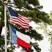 Texas and American Flags