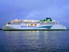 WB Yeats Ferry the Largest Car Ferry in the  World (David Hobbs / Mr Hobbs Coffee) Tags: wbyeats irishferries dublinport carferry biggestintheworld dublintocherbourg mrhobbscoffee atsea martime riverliffeydublin