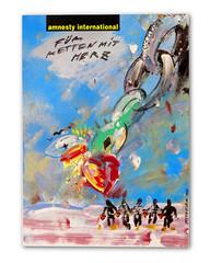 Ketten mit Herz (Don Claudio, Vienna) Tags: christian ludwig attersee feuerstelle pop art kunst ausstellung exhibition wien vienna austria 21 haus belvedere plakat amnesty international ketten herz